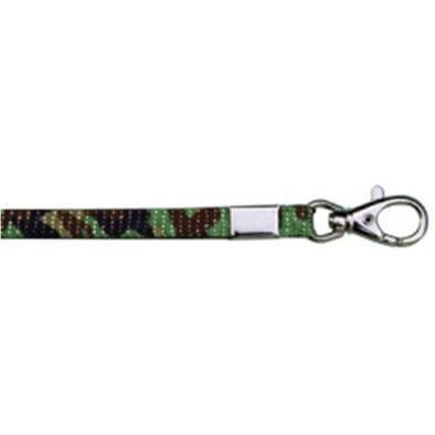 "Wholesale Lanyard Glitter 3/8"" - Green Camouflage (12 Pack)"