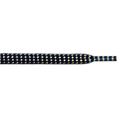 "Wholesale Tubular Glitter 5/16"" - Black (12 Pair Pack) Shoelaces from Shoelaces Express"