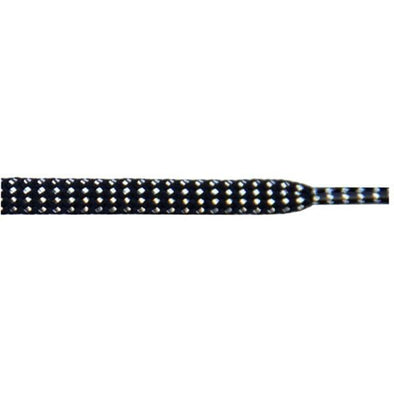 "Tubular Glitter 5/16"" - Black (12 Pair Pack) Shoelaces from Shoelaces Express"