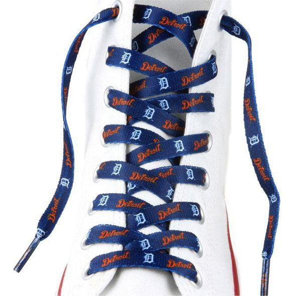 MLB LaceUps - Detroit Tigers (1 Pair Pack) Shoelaces from Shoelaces Express