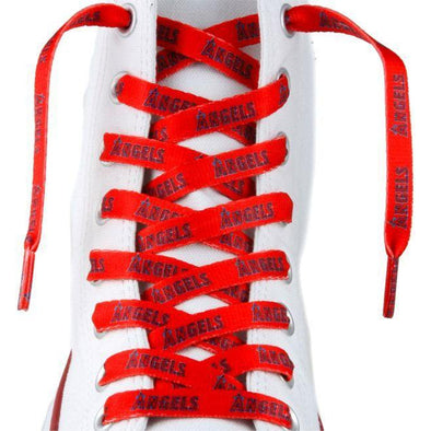 MLB LaceUps - Los Angeles Angels (1 Pair Pack) Shoelaces from Shoelaces Express