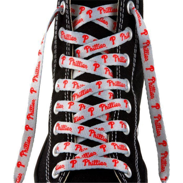 MLB LaceUps - Philadelphia Phillies (1 Pair Pack) Shoelaces from Shoelaces Express