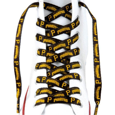 MLB LaceUps - Pittsburgh Pirates (1 Pair Pack) Shoelaces from Shoelaces Express