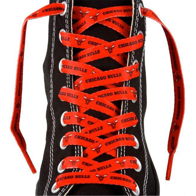 NBA LaceUps - Chicago Bulls (1 Pair Pack) Shoelaces from Shoelaces Express