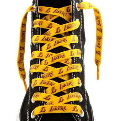 NBA LaceUps - Los Angeles Lakers (1 Pair Pack) Shoelaces from Shoelaces Express