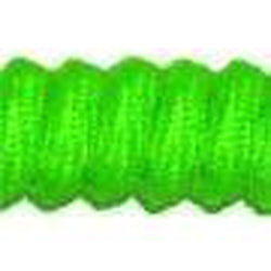 Curly Laces Neon Green 6""