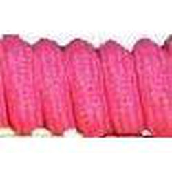 Curly Laces Neon Pink 4""