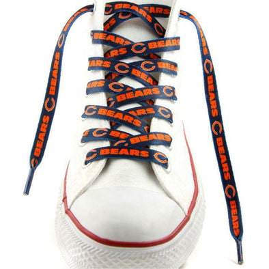 NFL LaceUps - Chicago Bears (1 Pair Pack) Shoelaces from Shoelaces Express