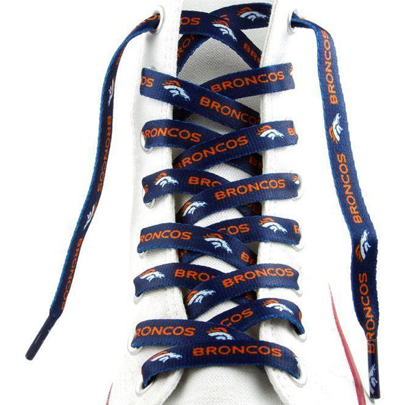 NFL LaceUps - Denver Broncos (1 Pair Pack) Shoelaces from Shoelaces Express