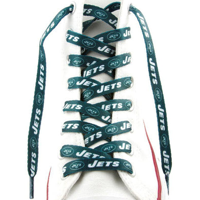 NFL LaceUps - New York Jets (1 Pair Pack) Shoelaces from Shoelaces Express