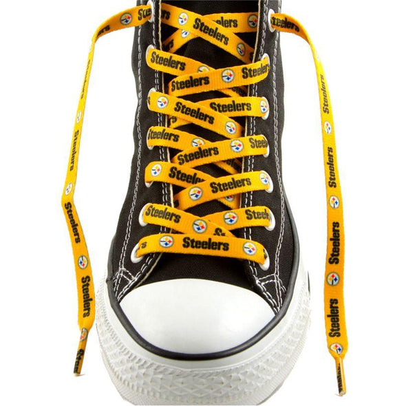 NFL LaceUps - Pittsburgh Steelers - Gold (1 Pair Pack) Shoelaces from Shoelaces Express