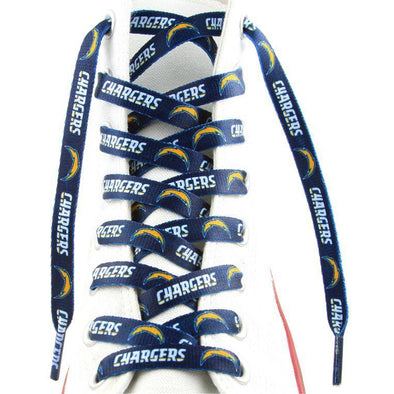 NFL LaceUps - San Diego Chargers (1 Pair Pack) Shoelaces from Shoelaces Express