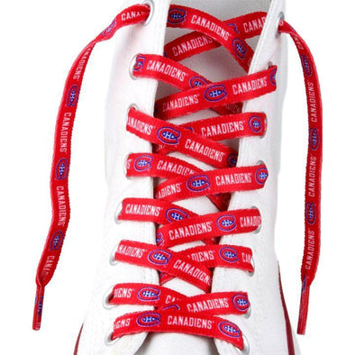 NHL LaceUps - Montreal Canadiens (1 Pair Pack) Shoelaces from Shoelaces Express