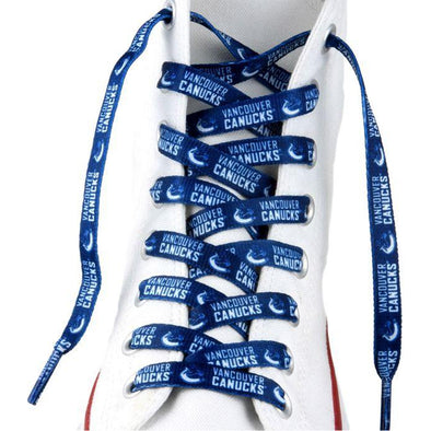 NHL LaceUps - Vancouver Canucks (1 Pair Pack) Shoelaces from Shoelaces Express
