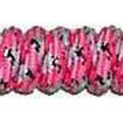 Curly Laces Pink White Metallic Silver 6""