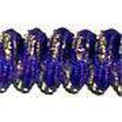 Curly Laces Purple Metallic Gold 6""