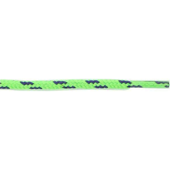 "Wholesale Round Dual Tone 3/16"" - Neon Green/Navy (12 Pair Pack) Shoelaces from Shoelaces Express"