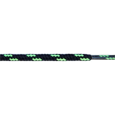 "Wholesale Round Dual Tone 3/16"" - Black/Neon Green (12 Pair Pack)"