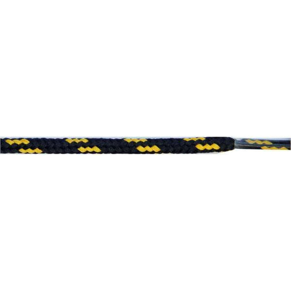 "Round Dual Tone 3/16"" - Black/Yellow (12 Pair Pack) Shoelaces from Shoelaces Express"