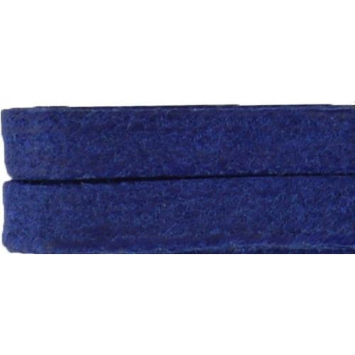 Waxed Cotton Flat Dress Laces Custom Length with Tip - Royal Blue (1 Pair Pack) Shoelaces from Shoelaces Express