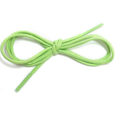 "Waxed Cotton Dress Round 1/8"" - Lime Green (12 Pair Pack) Shoelaces from Shoelaces Express"