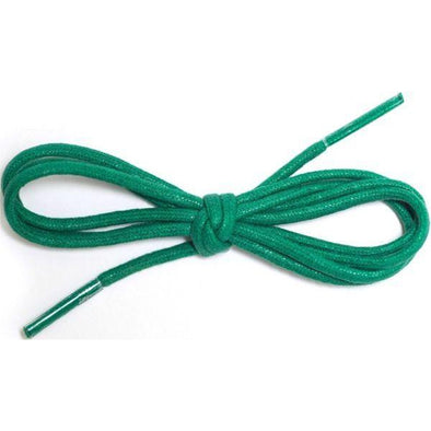 "Waxed Cotton Dress Round 1/8"" - Kelly Green (12 Pair Pack) Shoelaces from Shoelaces Express"