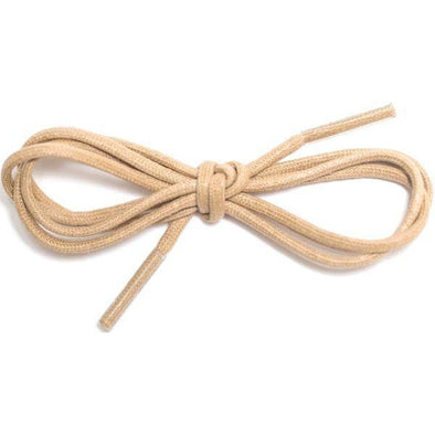"Waxed Cotton Dress Round 1/8"" - Beige (12 Pair Pack) Shoelaces from Shoelaces Express"