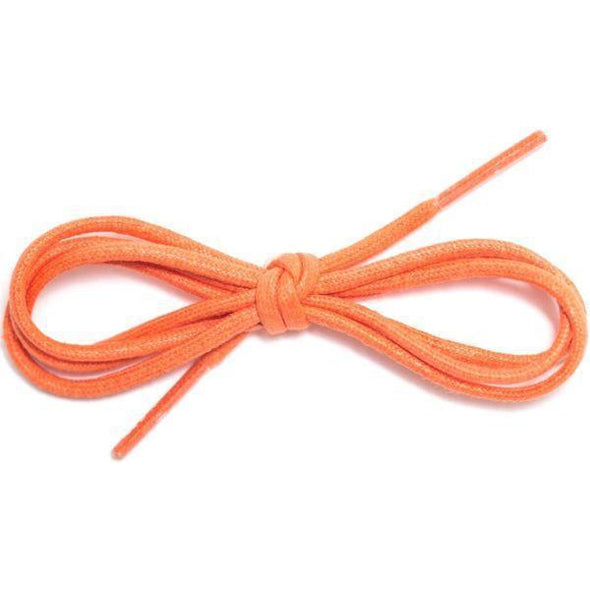 "Waxed Cotton Dress Round 1/8"" - Orange (12 Pair Pack) Shoelaces from Shoelaces Express"