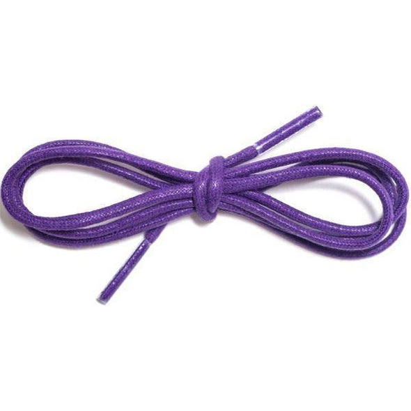 "Waxed Cotton Dress Round 1/8"" - Purple (12 Pair Pack) Shoelaces from Shoelaces Express"