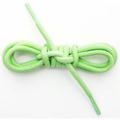 Waxed Cotton Round Laces Custom Length with Tip - Lime Green (1 Pair Pack) Shoelaces from Shoelaces Express