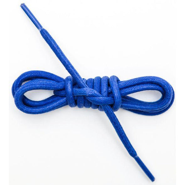 Waxed Cotton Round Laces Custom Length with Tip - Royal Blue (1 Pair Pack) Shoelaces from Shoelaces Express