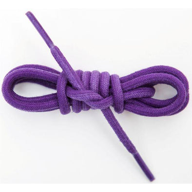 Waxed Cotton Round Laces Custom Length with Tip - Purple (1 Pair Pack) Shoelaces from Shoelaces Express