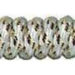 Curly Laces - White/Metallic Gold (1 Pair Pack) Shoelaces from Shoelaces Express