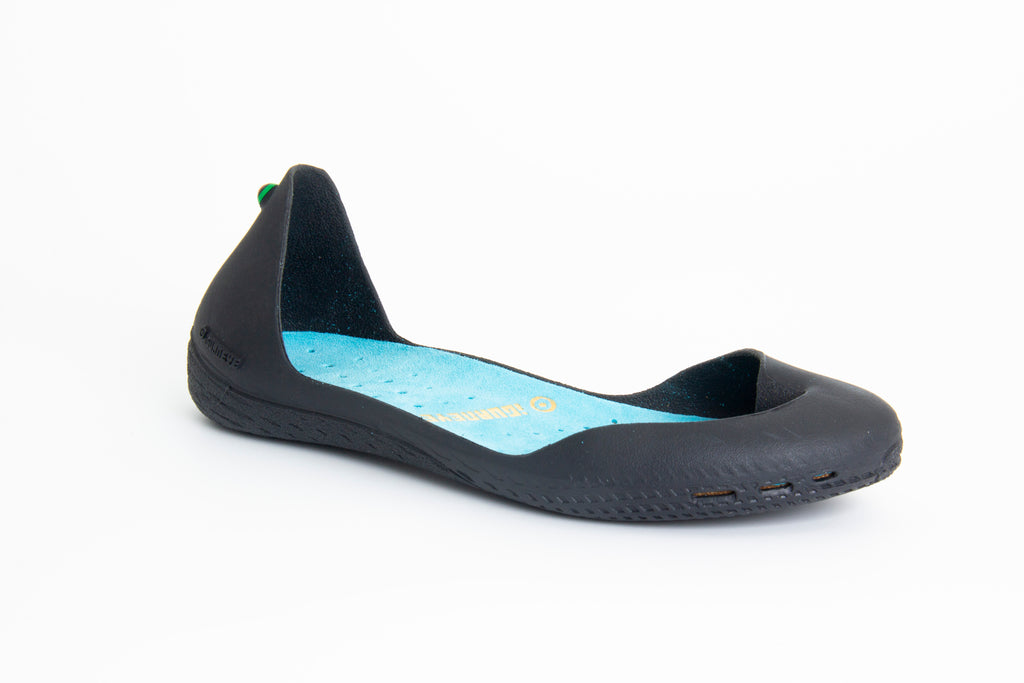 FRESHOE Charcoal Gray + Turquoise Blue