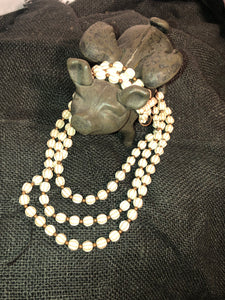 Multi Strand Ivory Necklace