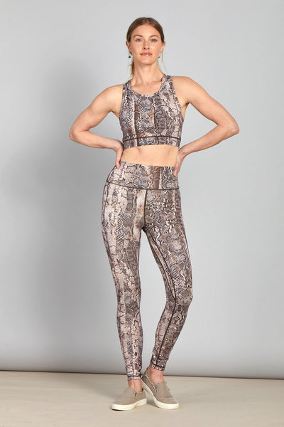 Andi Mid Rise Performance Leggings Snake