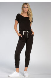Black Jumpsuit with Tie Waist
