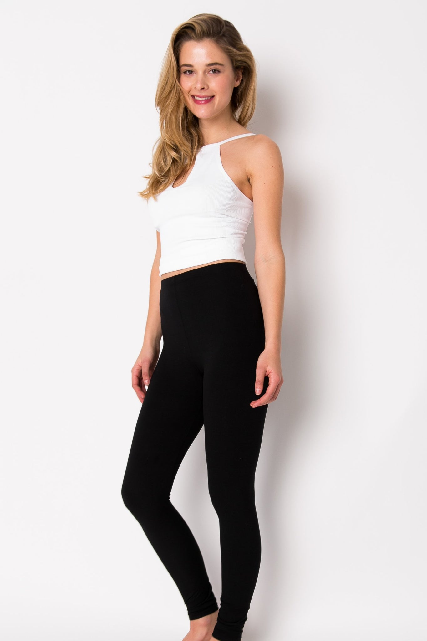 High Waist Brushed Poly Leggings