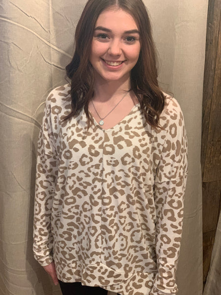 Leopard Non Brushed Top