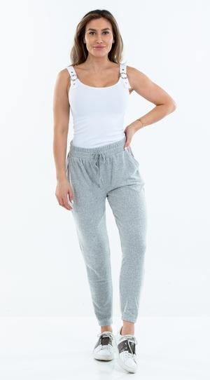 Hacci Jogger in Heather Grey