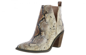 Snake Print Bootie