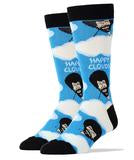 Bob Ross Happy Clouds Socks Womens