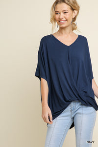 Navy Relaxed Fit Top
