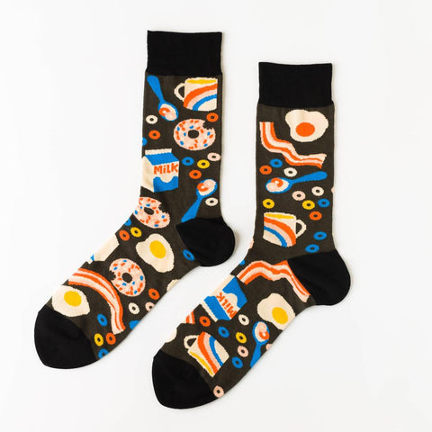 Men's Socks - Breakfast
