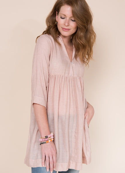 BLUSH 3/4 SLEEVE TUNIC