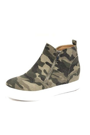 Camo Wedge Shoes