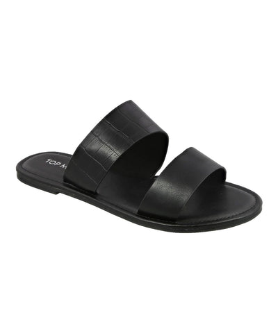 Malik Black Crocodile Sandal