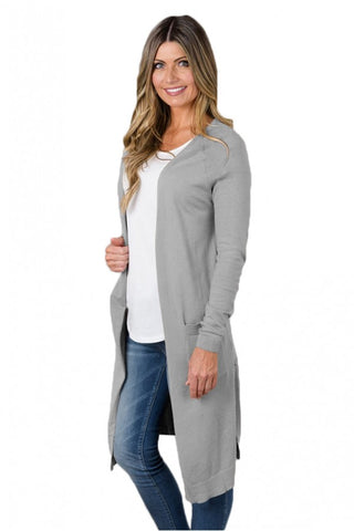Love Tree Long Grey Cardigan