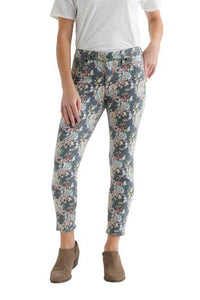 Lucky Ava Crop Multi Flower Jeans