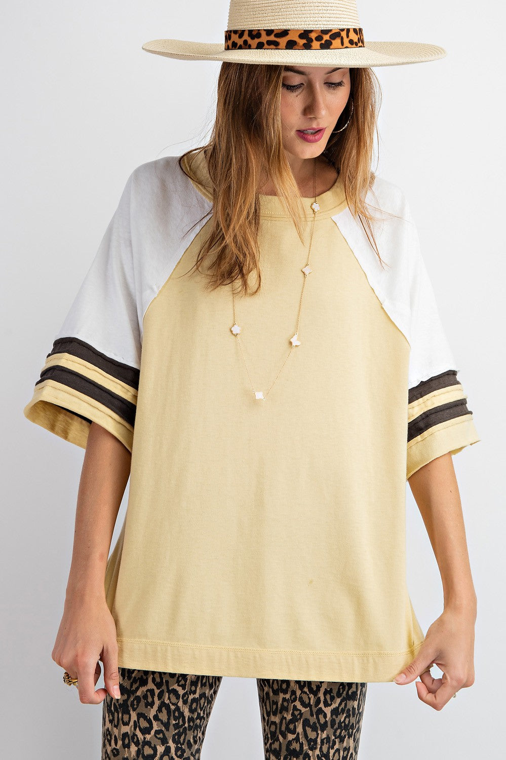 Mustard Color Block Tunic
